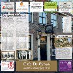 Nieuwe placemat Café De Pynas