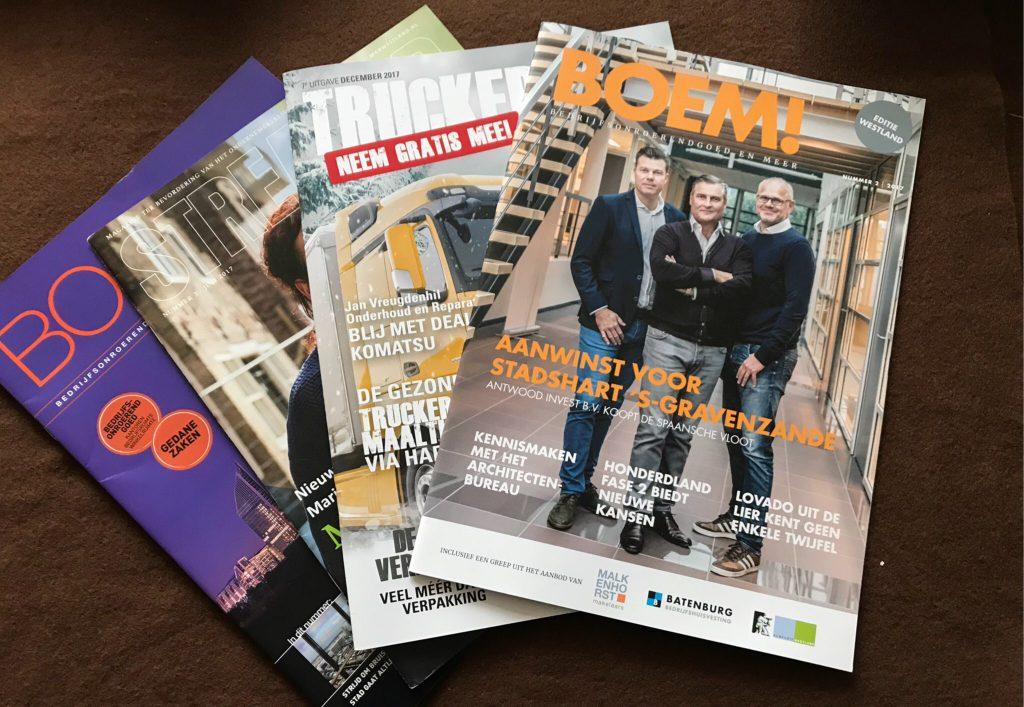 Diverse magazines maken gebruik van de teksten van Pensive.